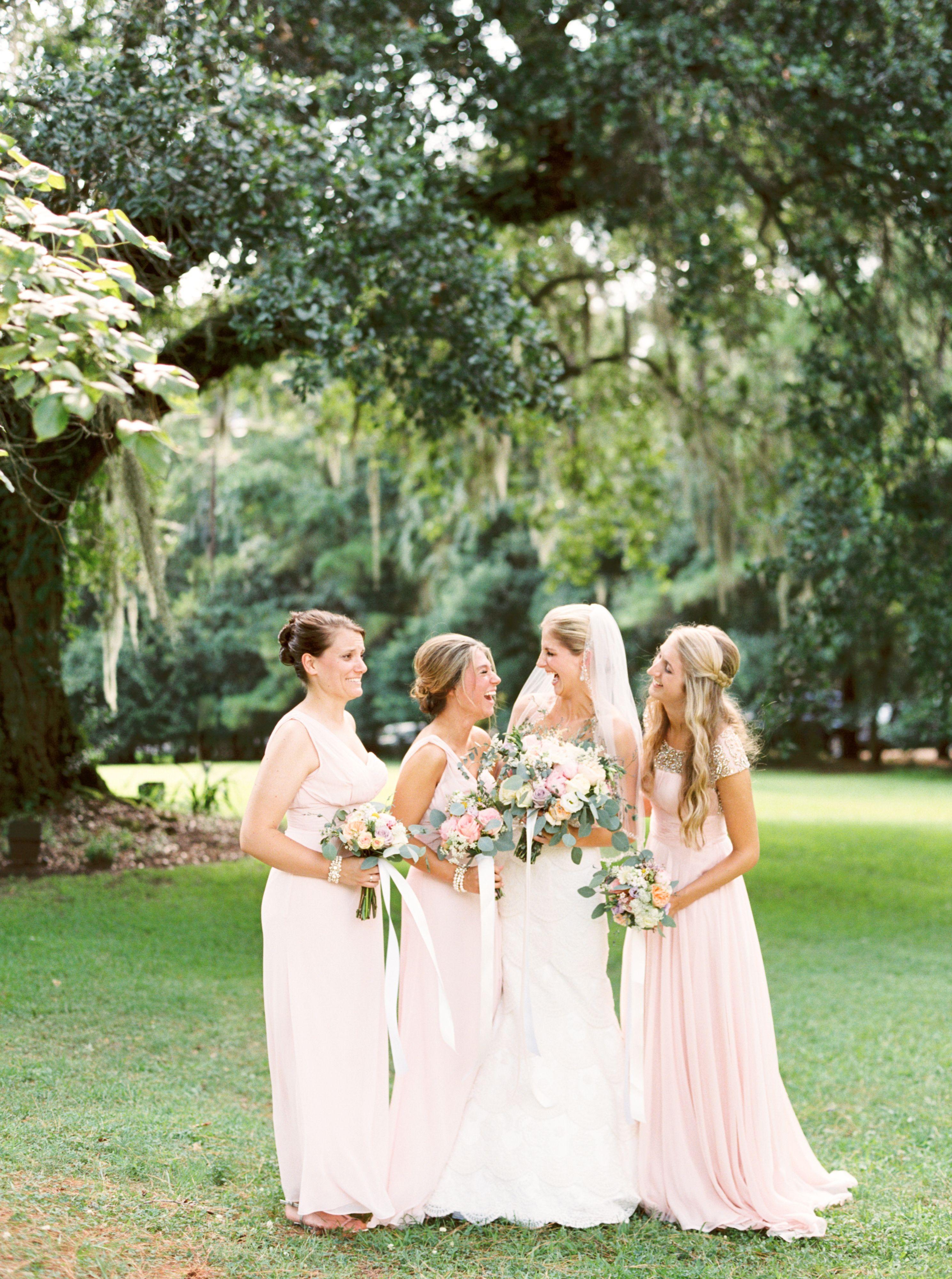 Pastel pink bridesmaid dress  Pale Pink Bridesmaid Gown  Everything Bridesmaids  Pinterest