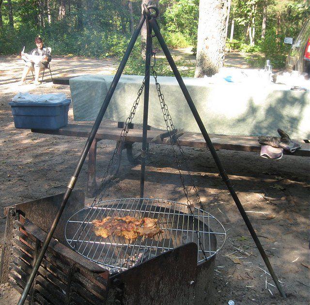 Tripod Grill Campervan Life Campfire Cooking Campfire