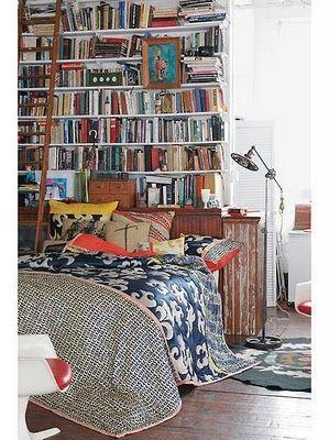 books in a boho home   Bohemian Twilight