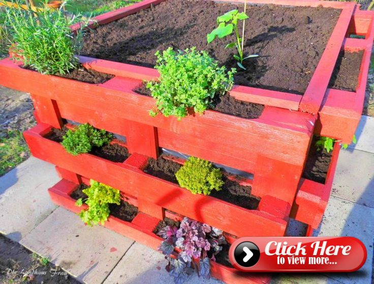 Raised bed of pallets here you will find a step by step guide #erhöhtepflanzbeete
