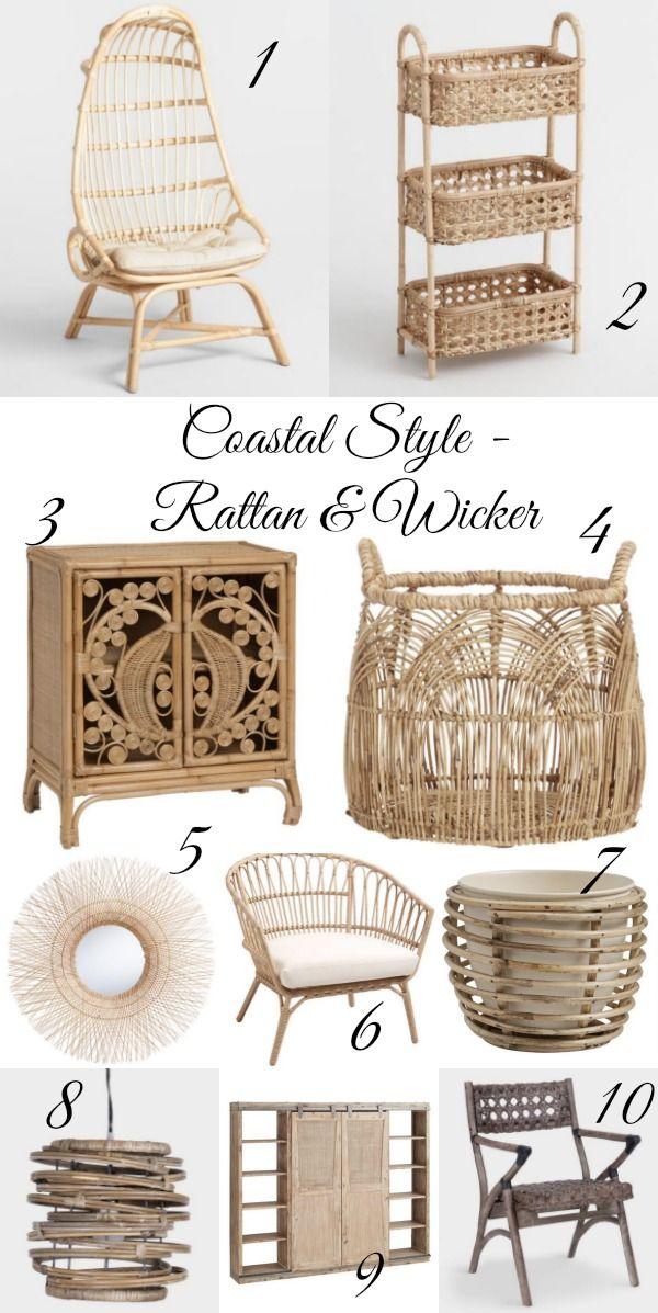 Coastal Style Rattan and Wicker kellyelko.com #wicker #rattan #coastal #coastalstyle #neutraldecor #neutral #bohodecor #affordabledecor #worldmarket