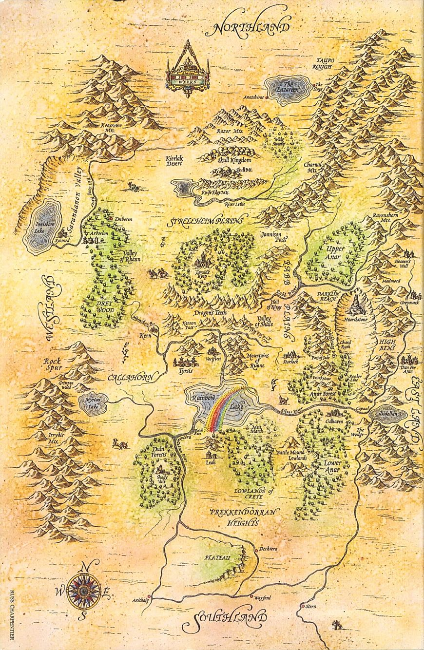 Map of the four lands shannara shannara projects to try pinte map of the four lands shannara shannara more fandeluxe Gallery