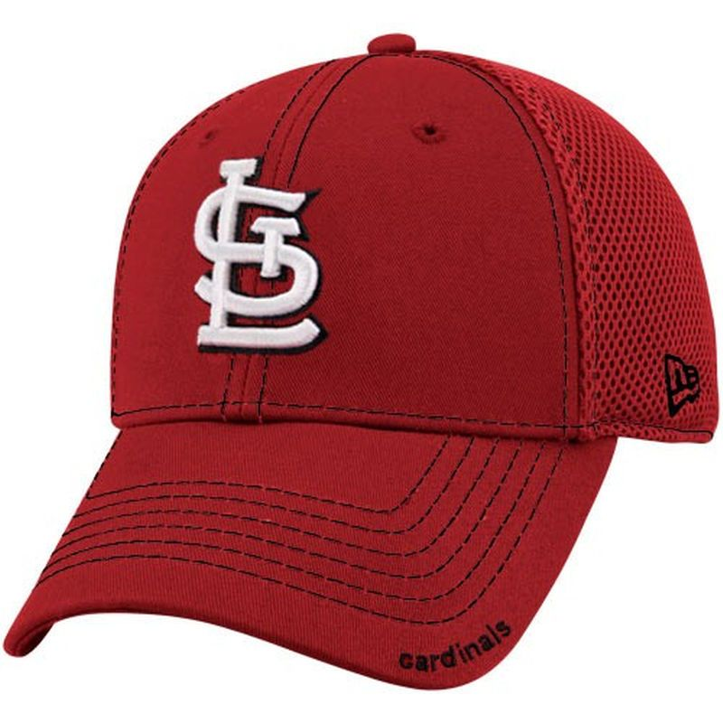 brand new 0ee41 1711e New Era St. Louis Cardinals Red Neo 39THIRTY Stretch Fit Hat