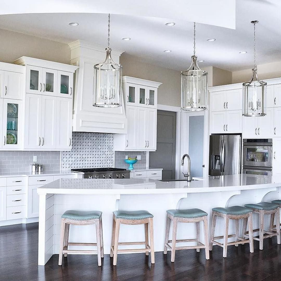 Lancaster Dove Gray 3x6 Polished Ceramic Tile Curved Kitchen Curved Kitchen Island House Design 3 x 6 kitchen island