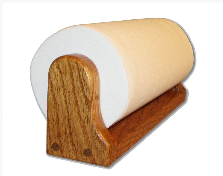 Golden Oak Paper Towel Holder Mounted Home Kitchen