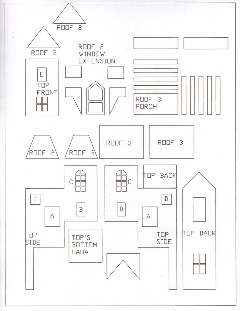 Gingerbread House Template Free Printable 1375898 Printable