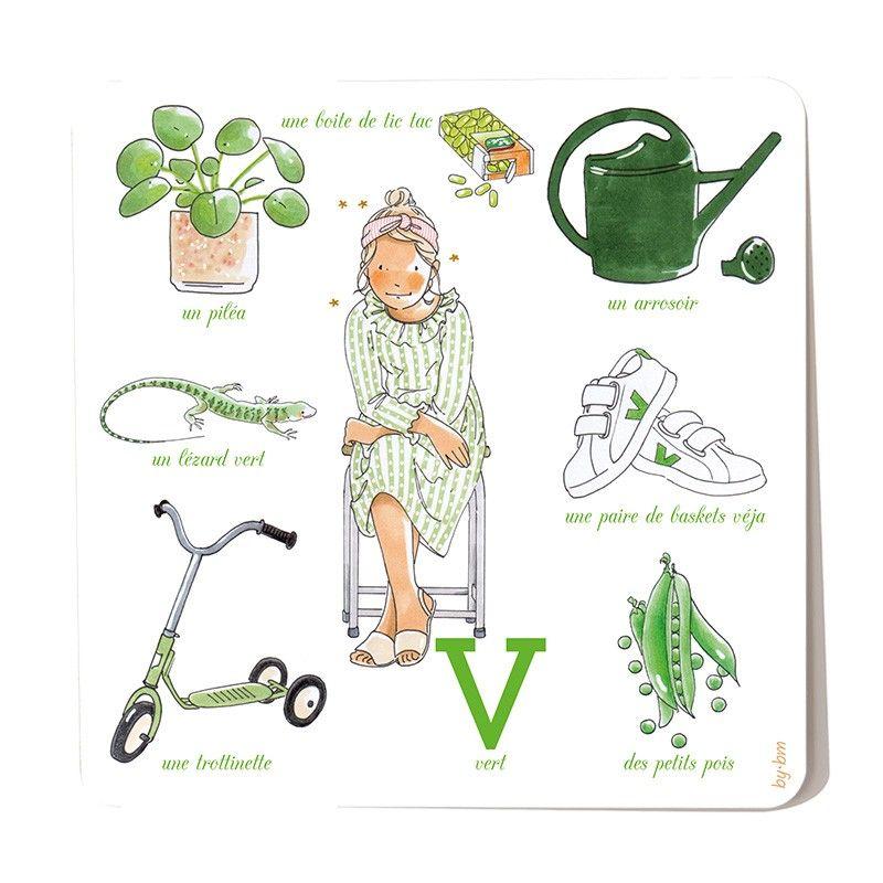Vert (avec images) | Carte postale, Postale, Dessin a imprimer