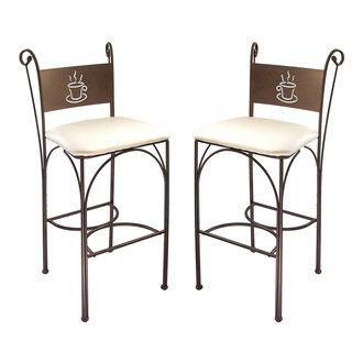 Chaise Haute En Fer Forge Hauteur 110 Cm Set De 2 Pieces Cappuccino Bar Table Bar Stools Home Decor