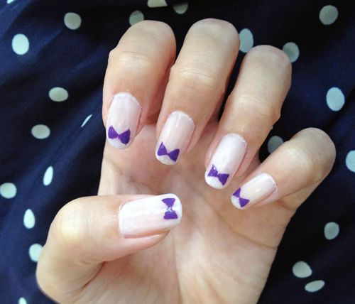 bow tie nail art | nail art and all things beauty | Pinterest ...