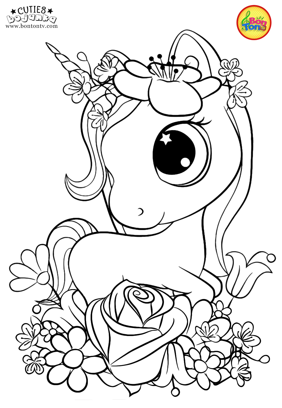 Cuties Coloring Pages For Kids Free Preschool Printables Slatkice Bojanke Cute Ani Mermaid Coloring Pages Free Kids Coloring Pages Unicorn Coloring Pages