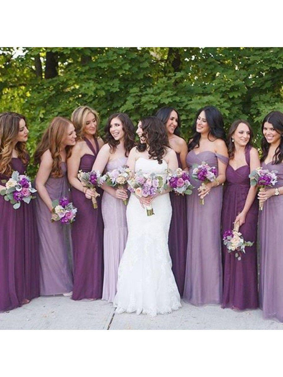 7dce68516f96 Empire Long Purple Wedding Guest Dresses Bridesmaid Dresses 99601142 ...