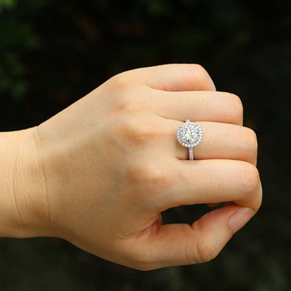 3524bcfff 2.40 Ct Diamond Wedding Engagement Ring White Gold 14K Solitaire Ring Size  8.5 8