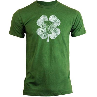 Old Time Hockey Chicago Blackhawks St. Patrick s Day Dempsey T-Shirt - Kelly  Green a34aabc12