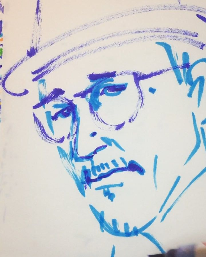 いいね!16件、コメント1件 ― @1mindrawのInstagramアカウント: 「#1mindraw #takahashiyukihiro #高橋幸宏 #YMO #19520606 #birthday #誕生日 #portrait #筆ペン画」