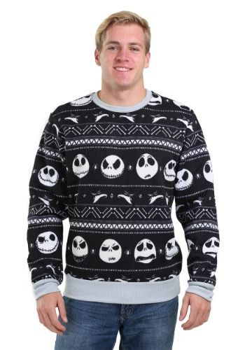 (affiliate link) NIGHTMARE BEFORE CHRISTMAS PATTERNED JACK MEN'S UGLY CHRISTMAS SWEATER