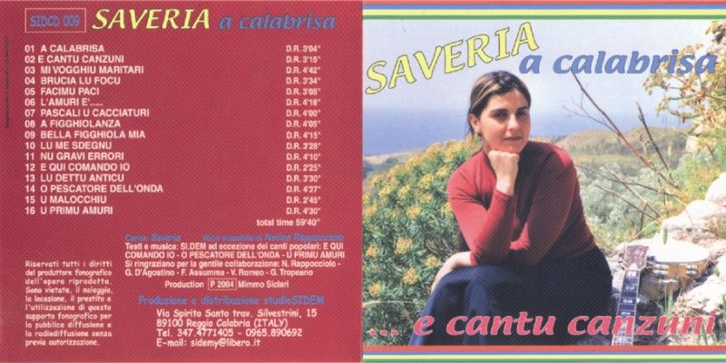 saveria a calabrisa folk singer (Saveria Romeo)