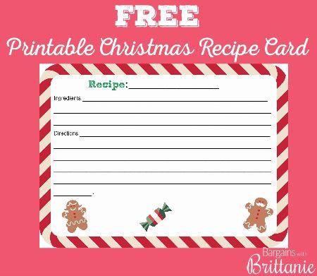 FREE Printable Christmas Recipe Card! Recipe cards, Free - free christmas dinner menu template