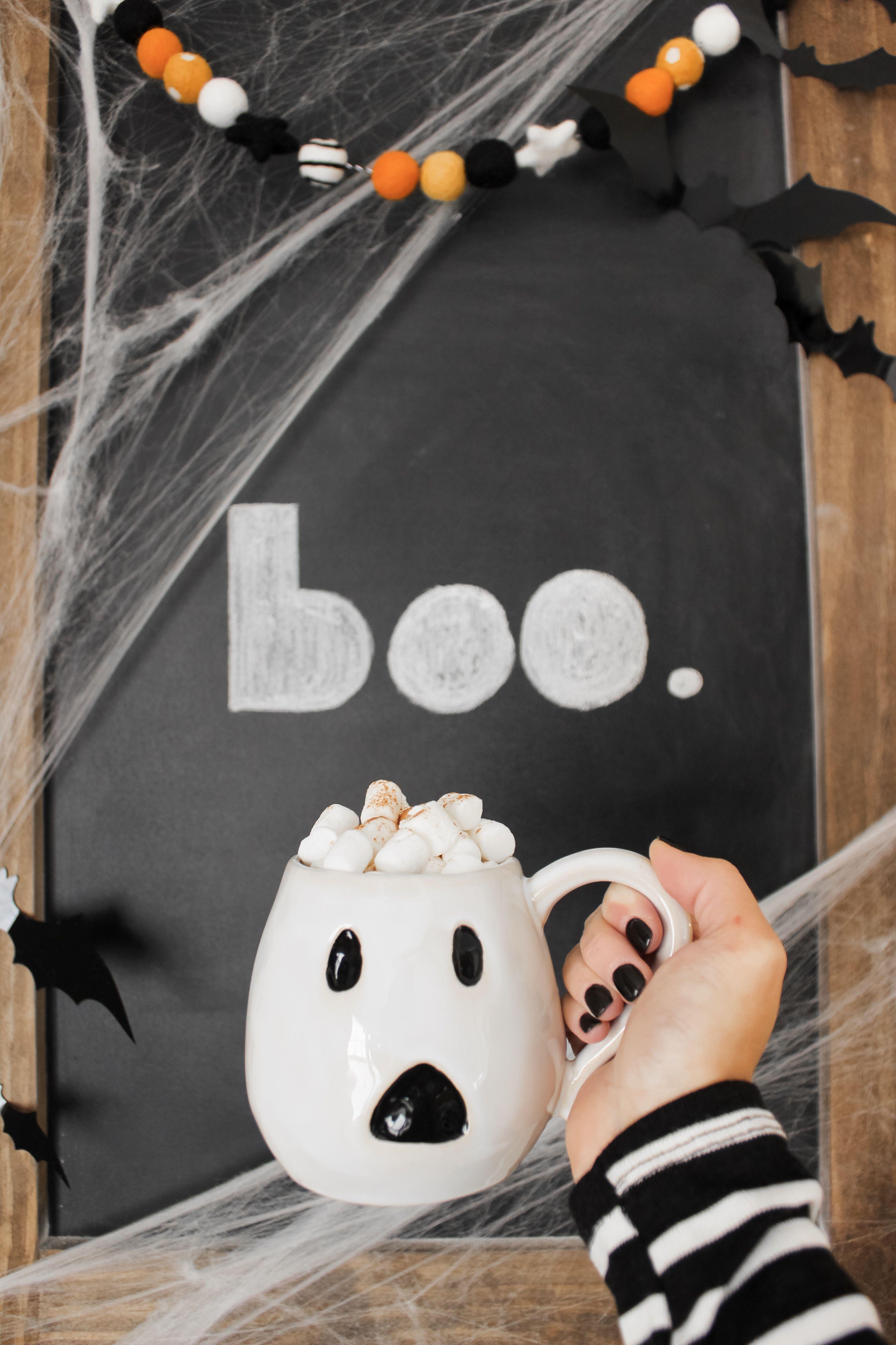 e4e191eee32 Pottery Barn Ghost Mug (@alcbells) | mug in 2019 | Diy halloween ...
