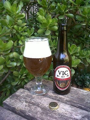 Marca: Vic Ale. Clase: IPA. Fabricante: Vic Brewery. Cerveza artesanal de cebada. Estilo: Indian Pale Ale. Procedencia: Barcelona (España). Fermentación: Alta. Grados: 6,2%.