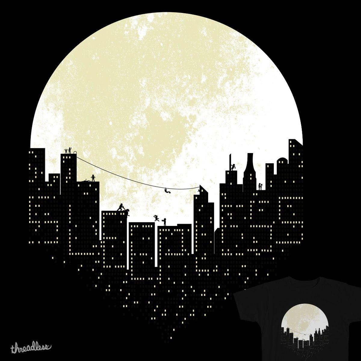 Ночной город картинки рисовать