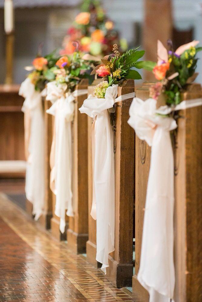 catholic wedding church weddings aisles ceremony decor simple also rh pinterest