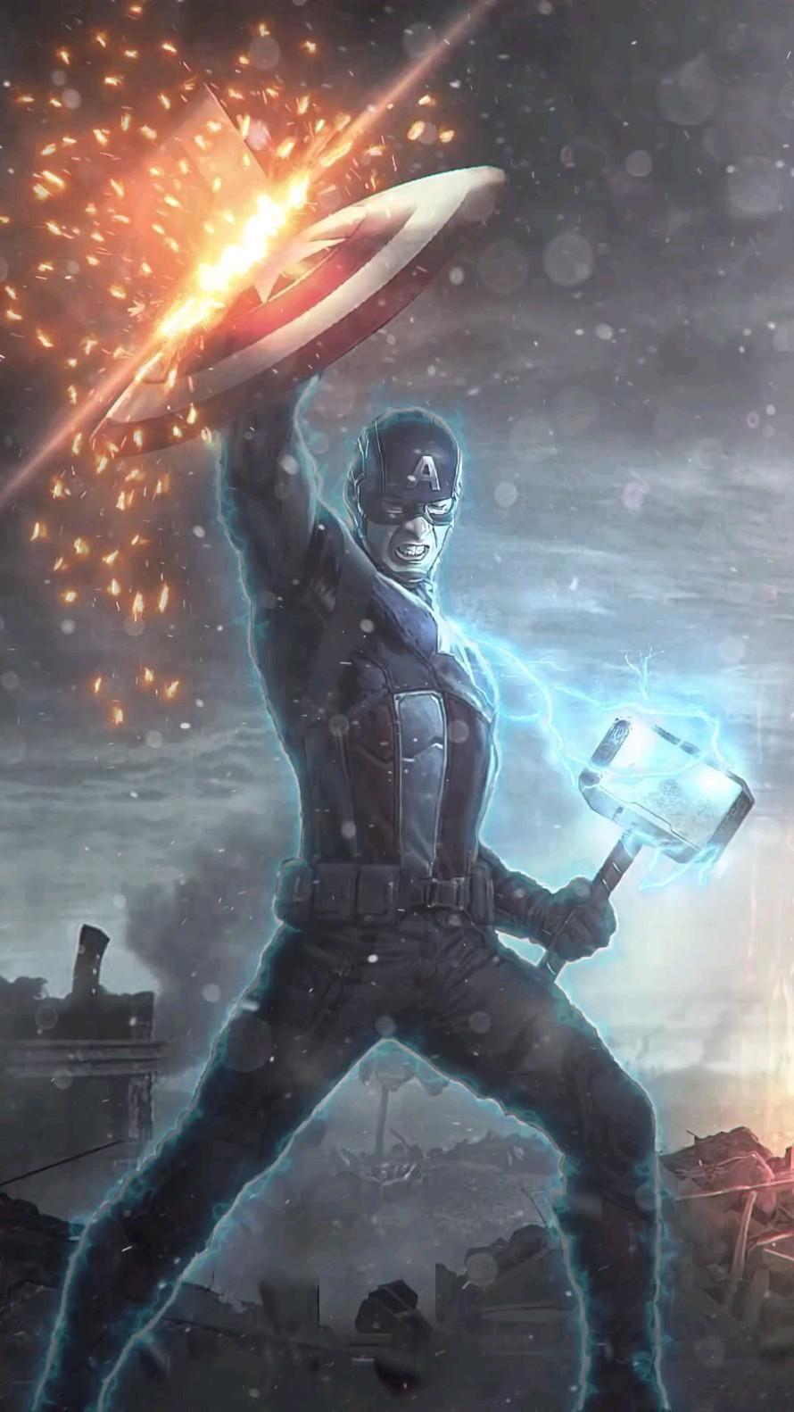 Captain America Animated Video GIF Phone Wallpaper Captain America #CaptainAmerica #wallpaper #gif