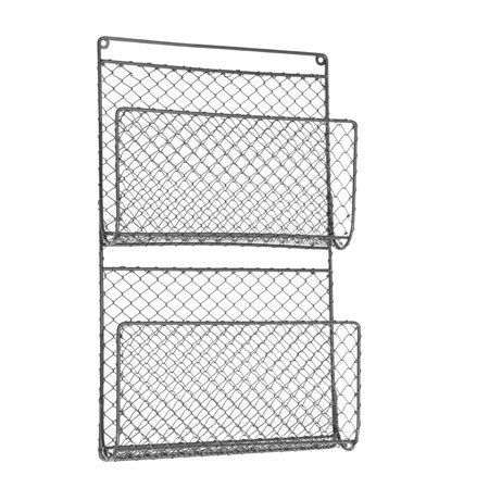 Wall Mounted Chicken Wire Letter Magazine Store Holder 45cm Amazon Co Uk Kitchen Home With Images Wall Racks Display Storage Towel Storage