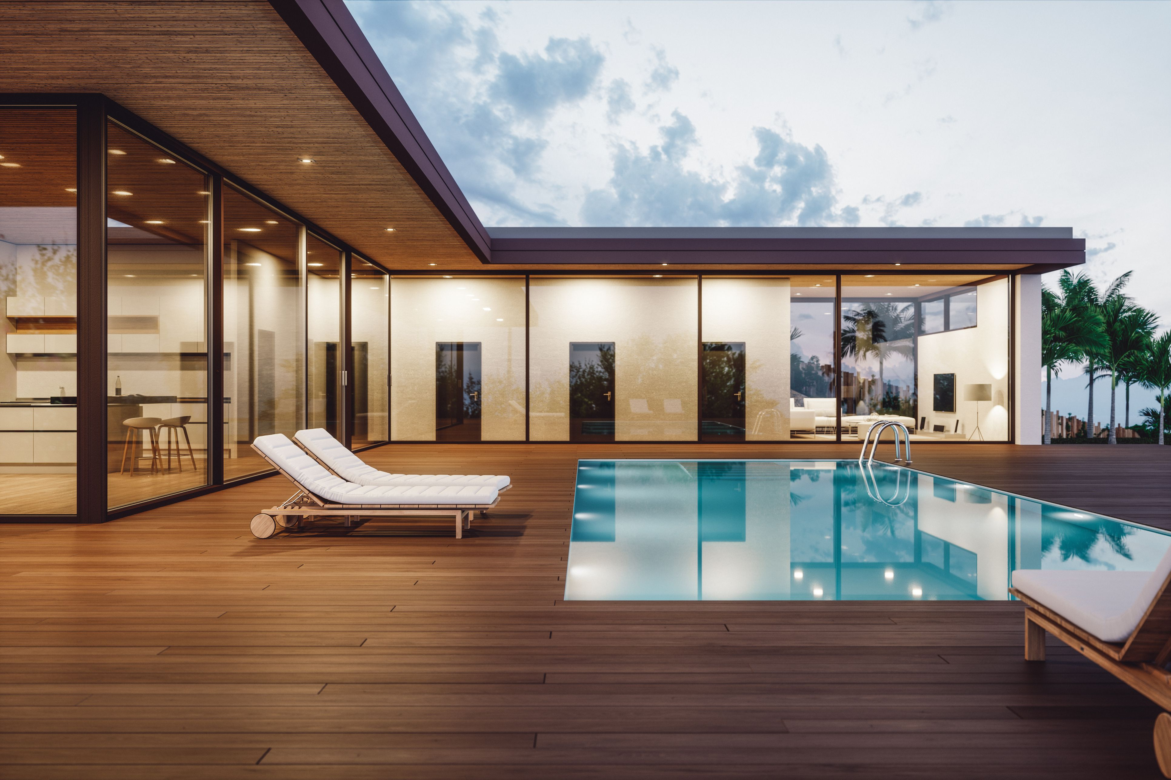 Dreams Building A Deck Modern Pools Wooden Pool Deck