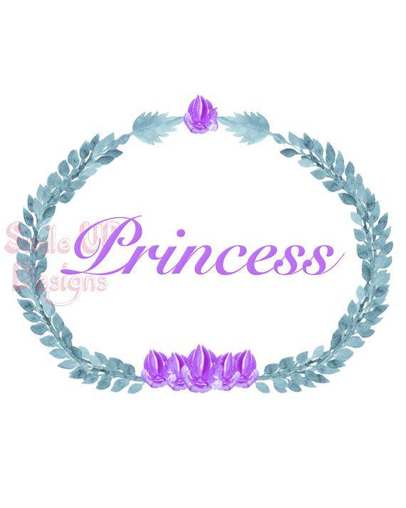 Princess Printable Wall art for Girls Room or by SmileUpDesigns