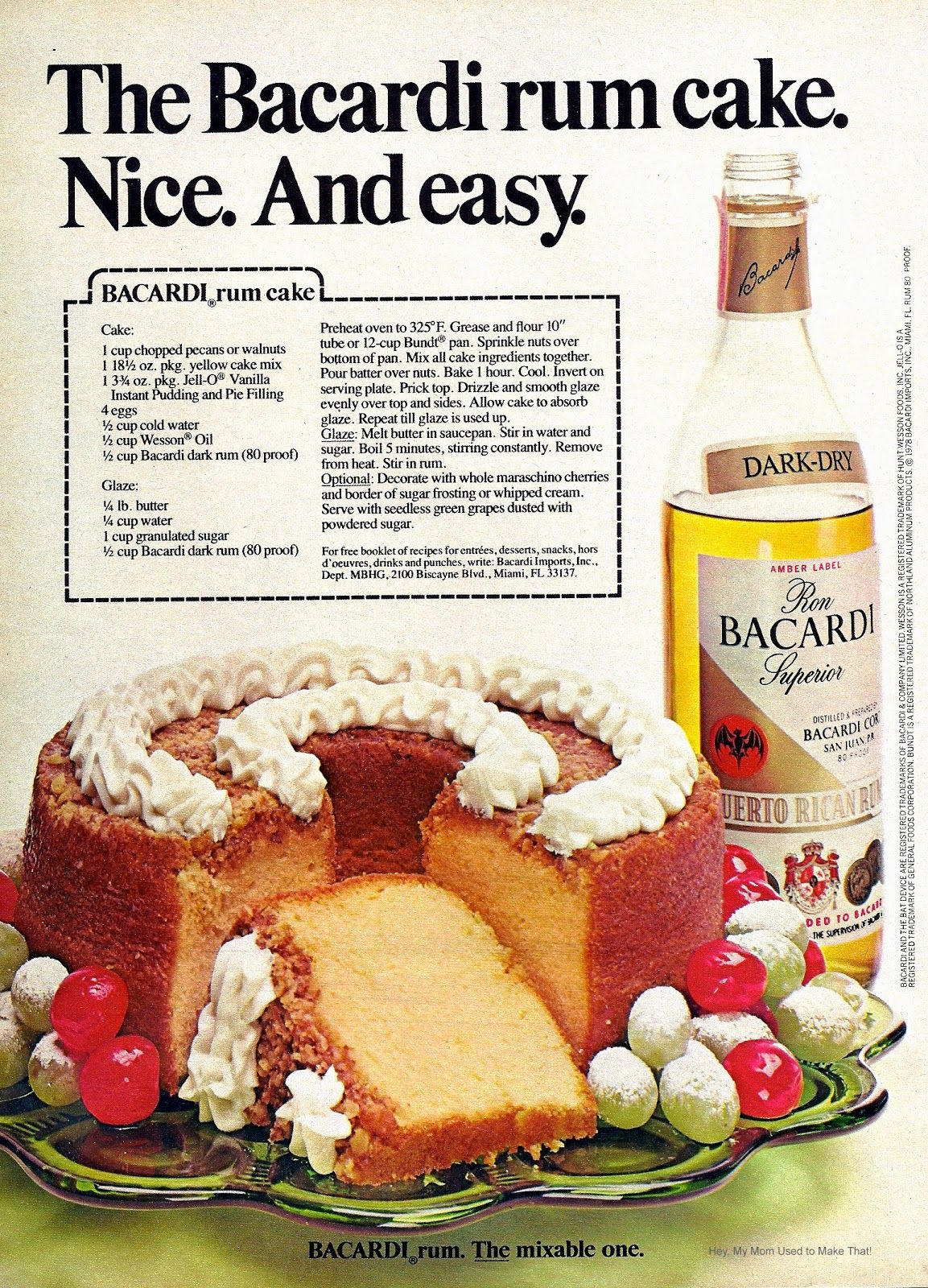 Farm Girl Pink Holiday Baking Bacardi Rum Cake Rum Cake Recipe Rum Cake Bacardi Rum Cake