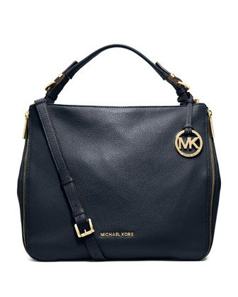 7c8b61a017add0 MICHAEL Michael Kors Large Essex Convertible Shoulder Bag. MK has a lot of  great quality leather bags, my favorite are simple all black ones.
