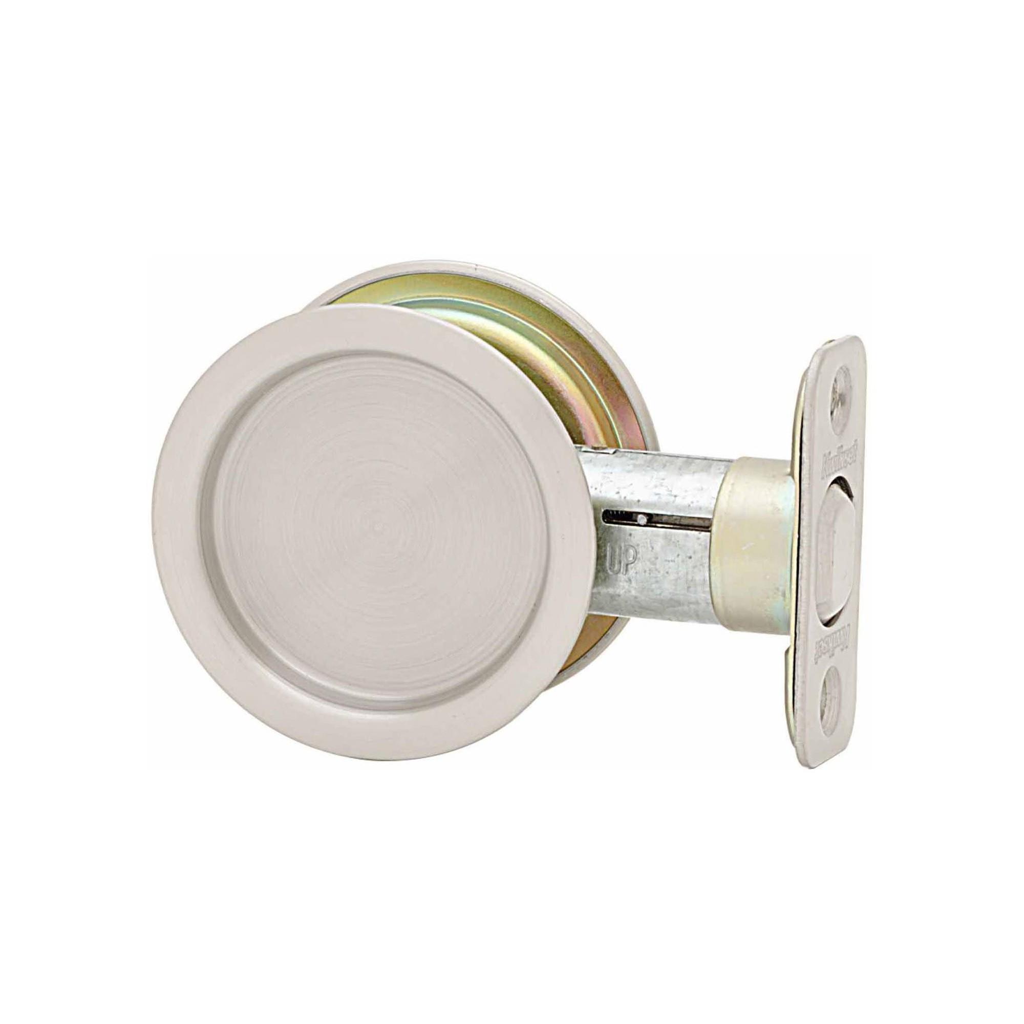 Kwikset 334 Round Passage Hall Closet Pocket Door Lock Satin Nickel Pocket Door Lock Pocket Doors Pocket Door Pulls