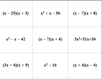 expanded form quadratic equation  Mix and match factored form and expanded form. (Scroll to ...