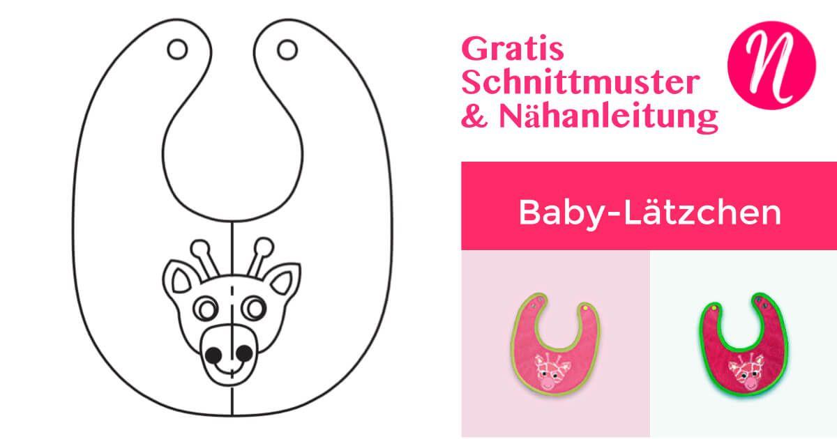 Babylätzchen mit Druckknöpfen - Freebook   Pinterest   Lätzchen ...