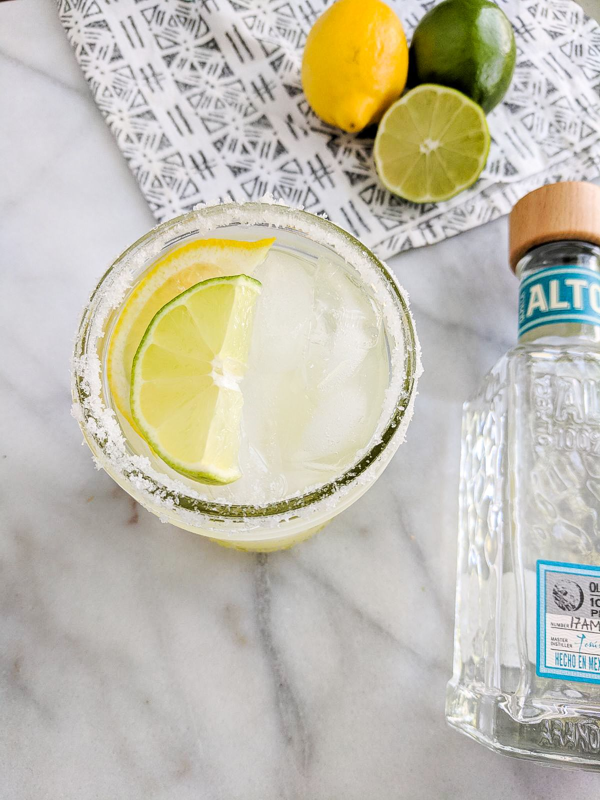 Simple Lemon Lime Margaritas