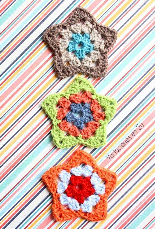 Crochet Stars // Estrellas de ganchillo