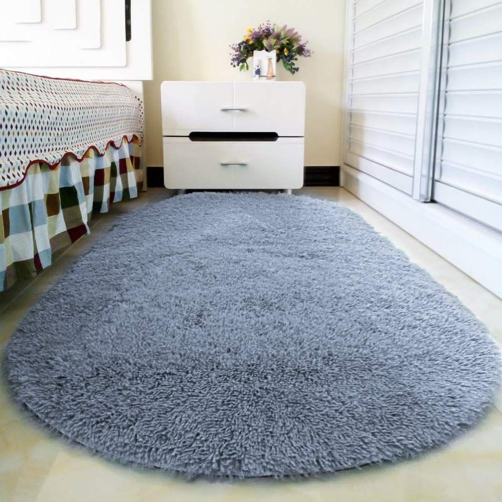Junovo Oval Fluffy Ultra Soft Area Rugs For Bedroom Carpets For
