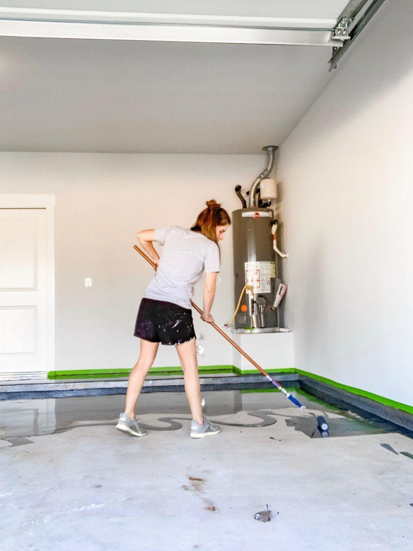How to apply a DIY epoxy floor coating in your garage.