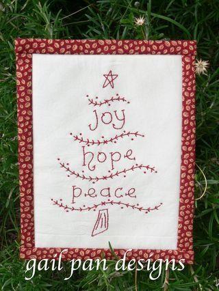 Redwork Christmas Treeee Pattern Fun Redwork Embroidery