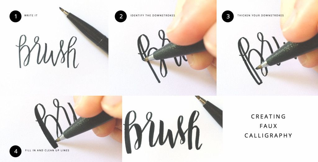 Brush lettering message tutorials