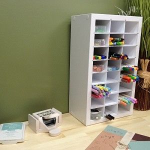 Marker Organizer Just bought 8 pkgs of Spectrum Noir markers and am looking for great storage ideas. Markers should be stored horizontally on their sides rather than up and down to evenly distribute the alcohol or liquid.
