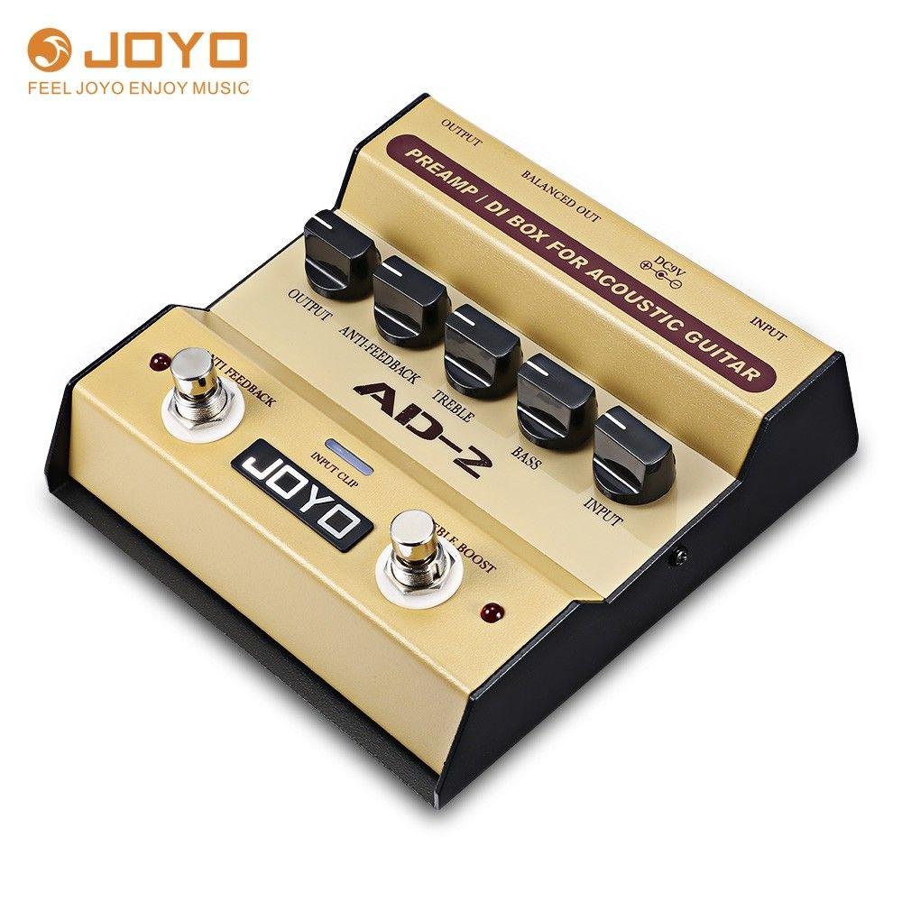 Joyo Ad 2 Preamp Di Box Effect Pedal For Acoustic Guitar Goldenrod 4n64753712 Acoustic Guitar Guitar Pedals Acoustic