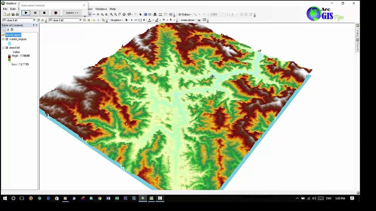 Simulation flood in ArcGIS 10.4.1