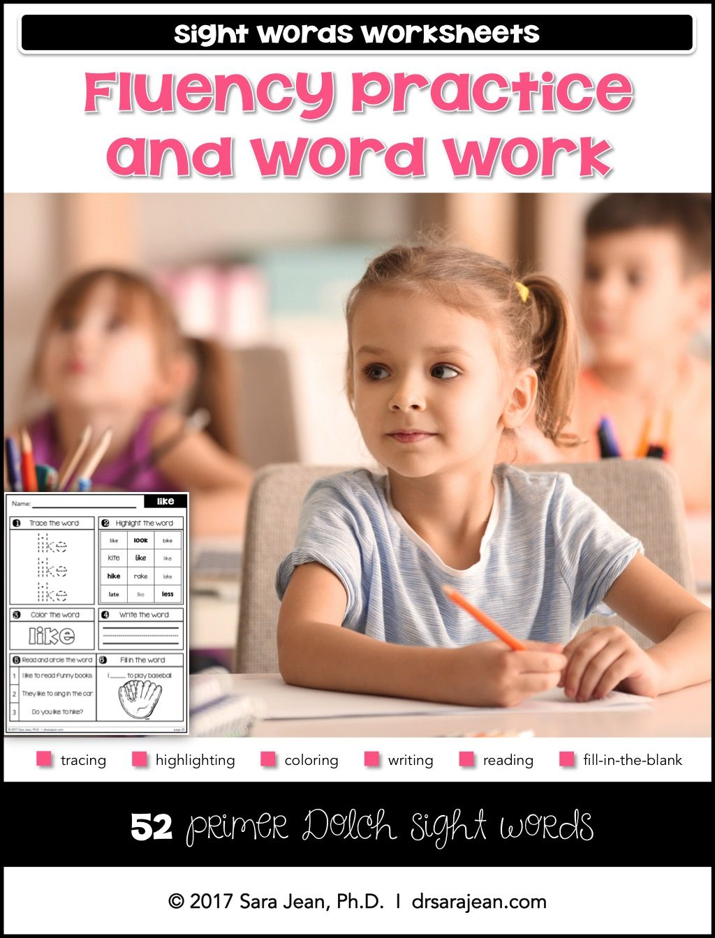 Primer Sight Words Worksheets Fluency Practice And Word