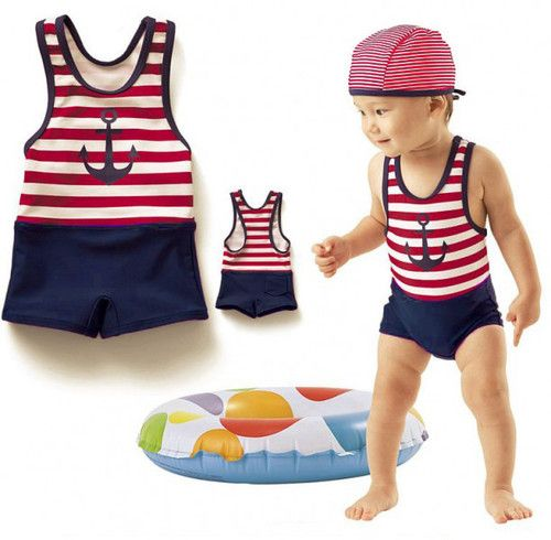 7e5356983 Baby Boy Girl Sailor Marine Anchor Stripes Style Design Romper Suit Shoes |  eBay
