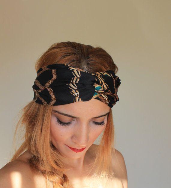 black boho headband   hair accessory  574b82c9088