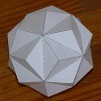 Paper model small triambic icosahedron