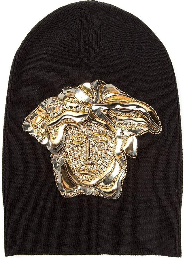 cfc222f9b Versace Medusa beanie on shopstyle.com | Expensive designer clothes ...