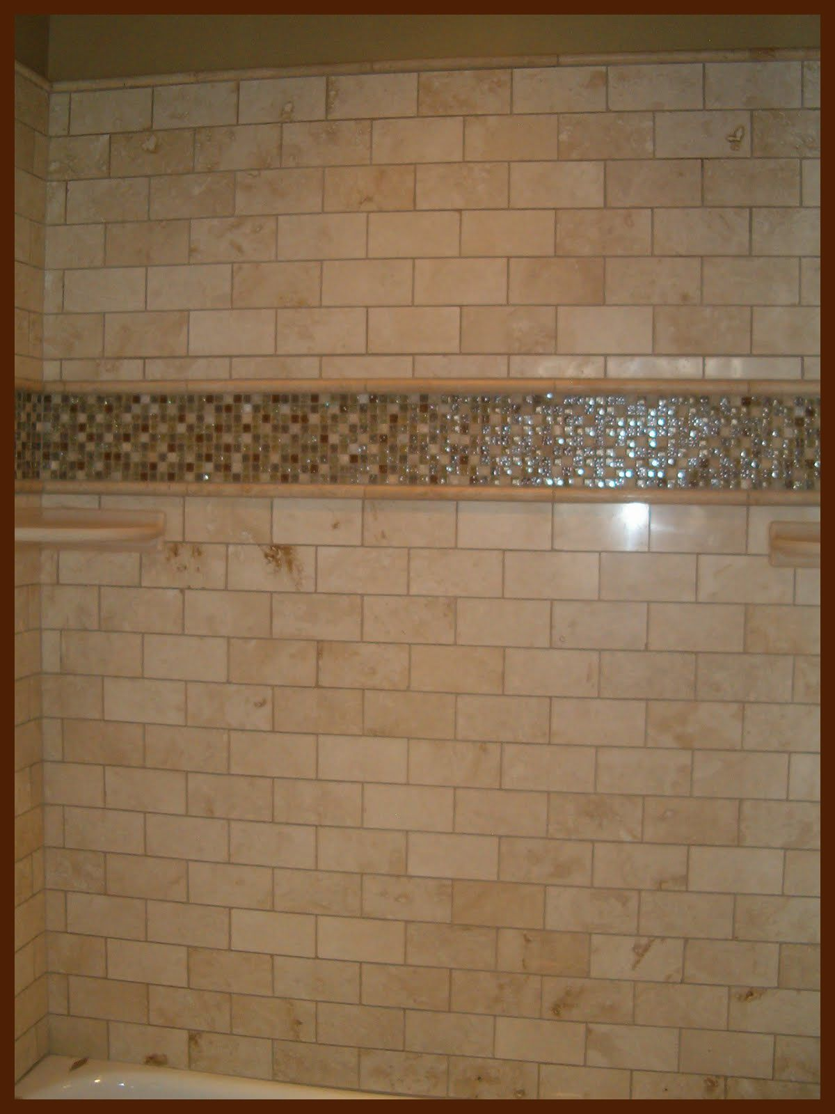 Tired Of Insert For A Tub Shower Combo Great Brick Laid Subway Tile Look Along Side Dayspring Custom Homes