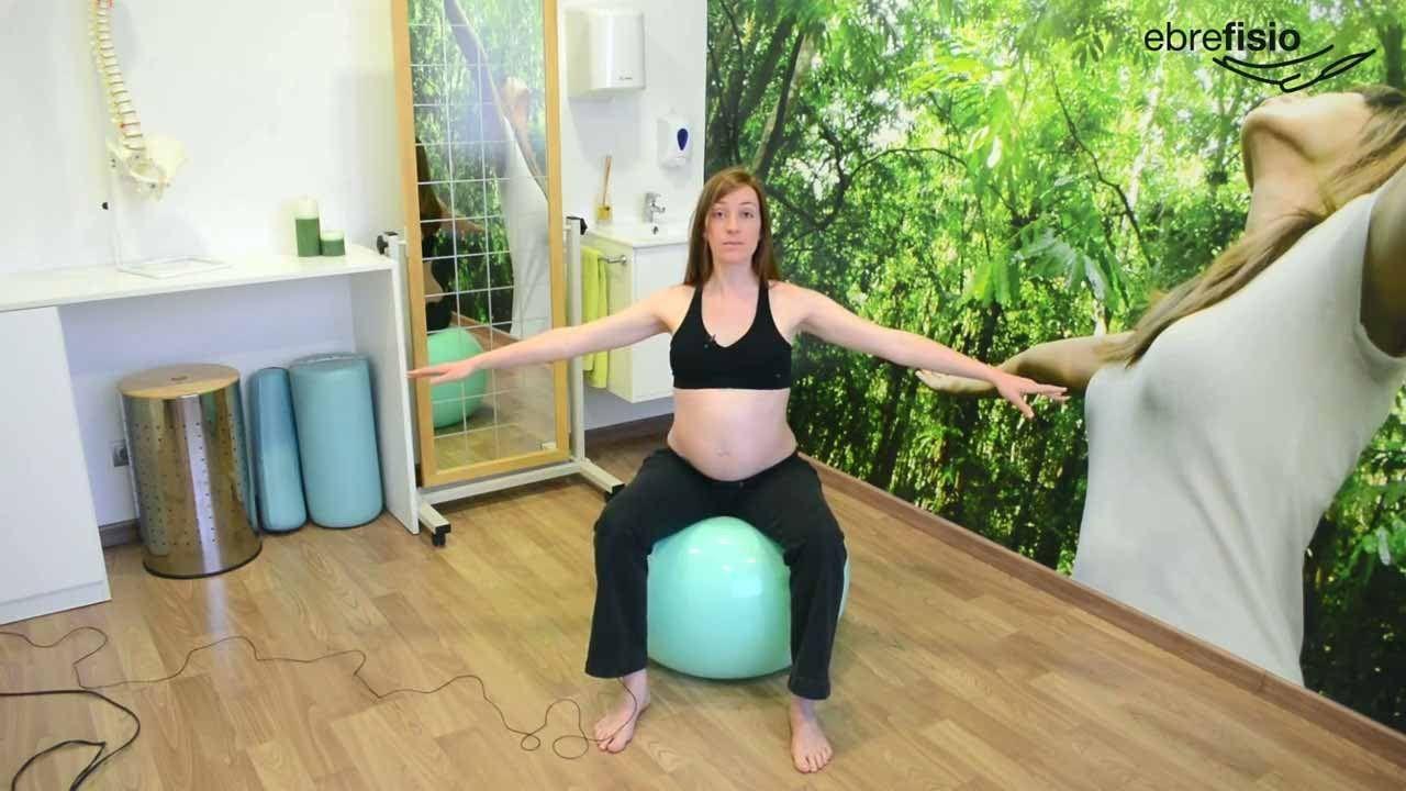ejercicios pelota embarazo tercer trimestre